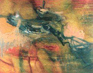 """The Helping Hand Strikes Again"", Oil on canvas, 120cm x 150cm, 1995"