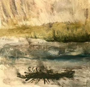 """Moral Injuries 3244"", Oil on paper, 2018"