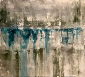 """Moral Injuries 3286"", Oil on paper, 2018"