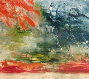 """Moral Injuries 3296"", Oil on paper, 2018"