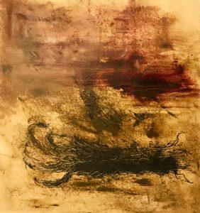 """Moral Injuries 3354"", Oil on paper, 2018"
