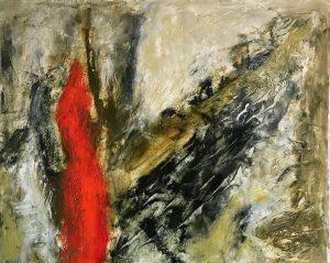 """Moral Injuries 3724"", Oil on paper, 2018"