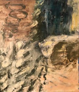 """Moral Injuries 4387"", Oil on paper, 2018"