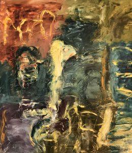 """Moral Injuries 4524"", Oil on paper, 2019"